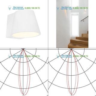 148061 SLV by Marbel PLASTRA CONE WL светильник настенный для лампы GX53 11Вт макс., белый гипс