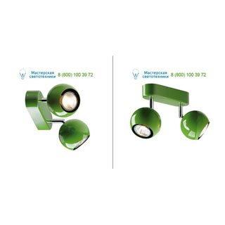 149075 SLV by Marbel LIGHT EYE 2 GU10 светильник накладной для 2-х ламп GU10 по 50Вт макс., папоротниковый (RAL6025)