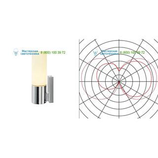 151543 SLV by Marbel DEVIN LED SINGLE светильник настенный IP44 c LED 8Вт, 3000К, 430лм, хром/ стекло белое