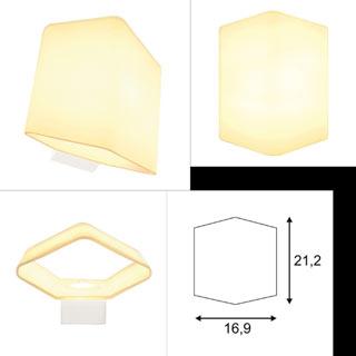 151722 SLV by Marbel CARISO WL GLASS светильник настенный с LED 7.6Вт (11Вт), 3000К, 650lm, стекло белое