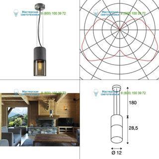 155714 SLV by Marbel LISENNE PD светильник подвесной для лампы E27 23Вт макс., темно-серый базальт/ стекло дымч.