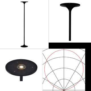 157010 SLV by Marbel TONIA светильник напольный с LED 24Вт, 2520lm, 3000К, черный матовый