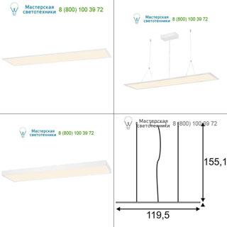 158722 SLV by Marbel I-PENDANT PRO LED PANEL светильник подвесной с LED 38Вт, 2700K, 3100lm, белый