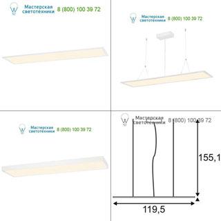 158723 SLV by Marbel I-PENDANT PRO LED PANEL светильник подвесной с LED 38Вт, 3000K, 3100lm, белый