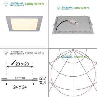 162813 SLV by Marbel SENSER SQUARE 14W светильник встраиваемый 350mA c SMD LED 14Вт, 3000K, 970lm, без БП, серебристый