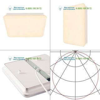 163030 SLV by Marbel SIмА SQUARE LED светильник накладной IP44 c LED 22Вт (25Вт), 3000К, 2300лм, белый