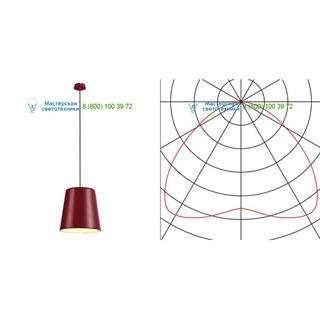 165518 SLV by Marbel TINTO светильник подвесной для лампы E27 60Вт макс., бордовый