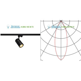 176000 SLV by Marbel 3Ph, STRUCTEC LED светильник с LED 24Вт (29Вт), CRI 90, 3000К, 2220лм, 36°, черный
