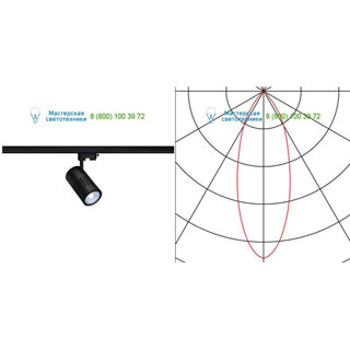 176060 SLV by Marbel 3Ph, STRUCTEC LED светильник с LED 31Вт (36Вт), CRI 90, 4000К, 3190лм, 36°, черный