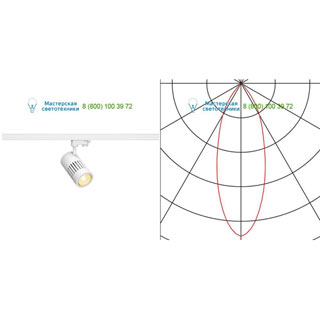 176081 SLV by Marbel 3Ph, STRUCTEC LED R9 светильник с LED 31Вт (36Вт), CRI>90, 3000К, 2460лм, 36°, белый