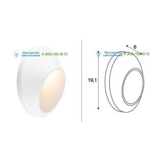 227181 SLV by Marbel DELO LED светильник настенный IP55 с LED 4.7Вт (5.8Вт), 3000К, 320лм, 35°, белый
