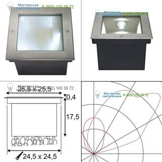 229381 SLV by Marbel DASAR® LED SQUARE светильник встраиваемый IP67 c SMD LED Module 28Вт (34Вт), 4000K, 1620lm, сталь