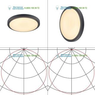 229965 SLV by Marbel AINOS LED светильник накладной IP44 с LED 18Вт (20Вт), 3000К, 120°, 1430лм, антрацит