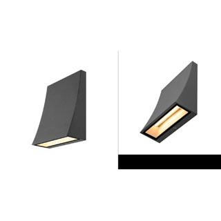 230795 SLV by Marbel DELWA WIDE светильник настенный IP44 с SMD LED 6,5Вт (8.8Вт), 3000K, 620lm, 100°, антрацит