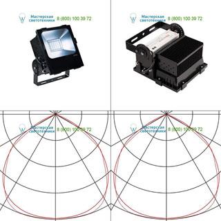 232380 SLV by Marbel DISOS LED 100 светильник IP65 c LED 90Вт (100Вт), 4000К, 110°, 10600лм, черный