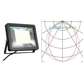 232840 SLV by Marbel SPOODI 31 светильник IP55 с COB LED 55Вт (60Вт), 3000К, 5100лм, 100°, черный