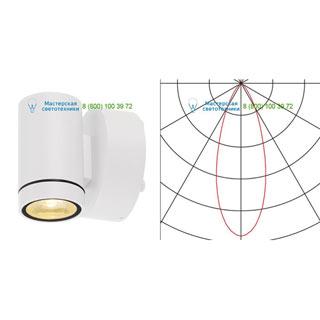 233221 SLV by Marbel HELIA LED WL светильник настенный IP55 c LED 8Вт, 3000К, 450лм, 38°, белый