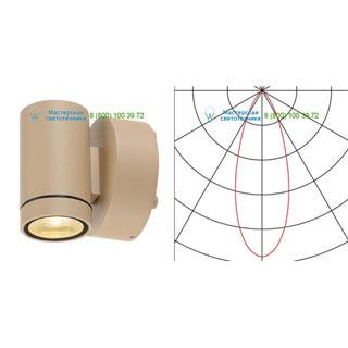 233223 SLV by Marbel HELIA LED WL светильник настенный IP55 c LED 8Вт, 3000К, 450лм, 38°, бежевый