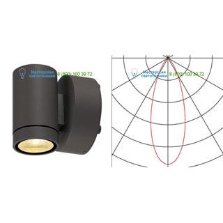 233225 SLV by Marbel HELIA LED WL светильник настенный IP55 c LED 8Вт, 3000К, 450лм, 38°, антрацит