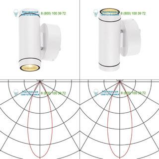 233231 SLV by Marbel HELIA LED UP-DOWN светильник настенный IP55 c LED 12Вт, 3000К, 2x350лм, 38°, белый