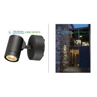 233245 SLV by Marbel HELIA LED SPOT 1 светильник настенный IP55 c LED 8Вт, 3000К, 450лм, 38°, антрацит