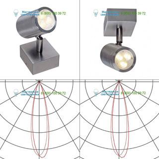 233310 SLV by Marbel SST 316 SINGLE светильник накладной IP44 с LED 3Вт (4.6Вт), 3000К, 250лм, сталь