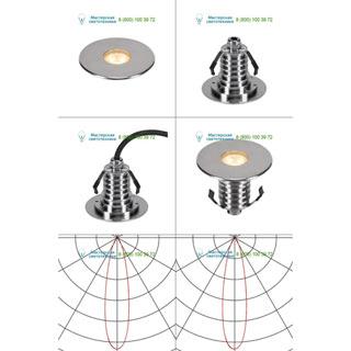 233682 SLV by Marbel DASAR® 100 PREMIUM LED ROUND светильник встр. IP67 c LED 3.8Вт (5.5Вт), 3000К, 300лм, 24°, сталь