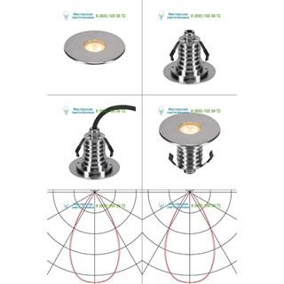 233686 SLV by Marbel DASAR® 100 PREMIUM LED ROUND светильник встр. IP67 c LED 3.8Вт (5.5Вт), 3000К, 300лм, 60°, сталь