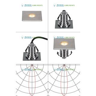 233702 SLV by Marbel DASAR® 100 PREMIUM LED SQUARE светильник встр. IP67 c LED 3.8Вт (5.5Вт), 3000К,300лм, 24°, сталь