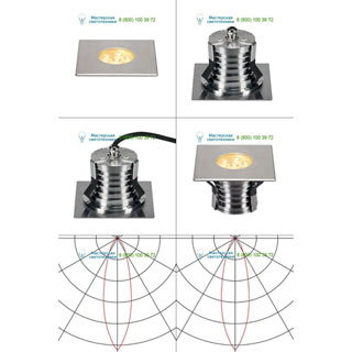 233742 SLV by Marbel DASAR® 150 PREMIUM LED SQUARE светильник встр. IP67 c LED 13Вт (17Вт), 3000К, 1200лм, 30°, сталь