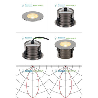 233756 SLV by Marbel DASAR® 180 PREMIUM LED ROUND светильник встр. IP67 c LED 24Вт (28Вт), 3000К, 2700лм, 38°, Al, сталь