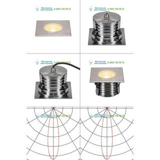 233782 SLV by Marbel DASAR® 180 PREMIUM LED SQUARE светильник встр. IP67 c LED 24Вт (28Вт), 3000К, 2700лм, 24°, сталь