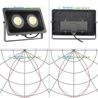 234315 SLV by Marbel MILOX 2 светильник IP55 c LED 79Вт, 3000К, 7340лм, антрацит