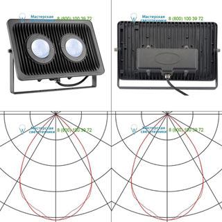 234335 SLV by Marbel MILOX 2 светильник IP55 c LED 79Вт, 4000К, 7910лм, антрацит