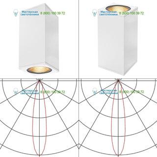 234501 SLV by Marbel BIG THEO LED UP-DOWN светильник настенный IP44 с LED 2x17.5Вт (42Вт), 3000К, 24°, 4000лм, белый