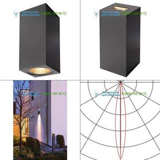 234515 SLV by Marbel BIG THEO LED BEAM светильник настенный IP44 с LED 6.2+17.5Вт (29Вт), 3000К, 2°+24°, 2130лм, антрацит