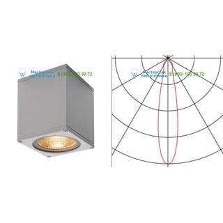 234524 SLV by Marbel BIG THEO LED WL светильник настенный IP44 с LED 17.5Вт (21Вт), 3000К, 24°, 2000лм, серебристый