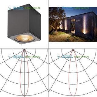 234525 SLV by Marbel BIG THEO LED WL светильник настенный IP44 с LED 17.5Вт (21Вт), 3000К, 24°, 2000лм, антрацит