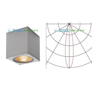 234534 SLV by Marbel BIG THEO LED CL светильник потолочный IP44 с LED 17.5Вт (21Вт), 3000К, 24°, 2000лм, серебристый