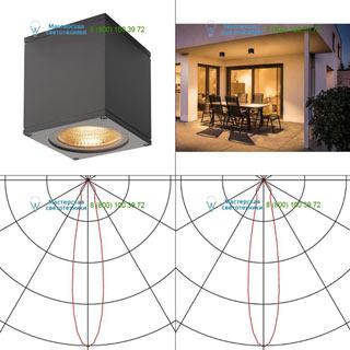 234535 SLV by Marbel BIG THEO LED CL светильник потолочный IP44 с LED 17.5Вт (21Вт), 3000К, 24°, 2000лм, антрацит