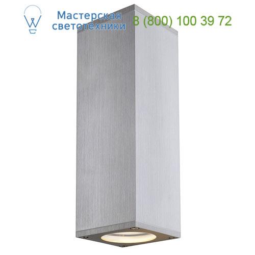 1000331 SLV by Marbel THEO UP-DOWN OUT светильник настенный IP44 для 2-х ламп GU10 по 35Вт макс., матир. алюминий