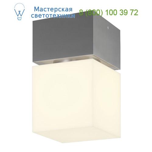 1000337 SLV by Marbel SQUARE C светильник потолочный IP44 для лампы E27 20Вт макс., матированный алюминий/ белый
