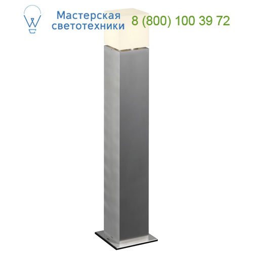 1000346 SLV by Marbel SQUARE POLE 90 светильник IP44 для лампы E27 20Вт макс., матированный алюминий/ белый