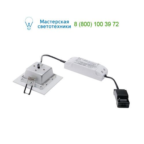 112721 SLV by Marbel FRAME BASIC LED SET светильник встраив. с LED 6Вт (9,4Вт), 3000K, 450lm, с блоком питания, белый