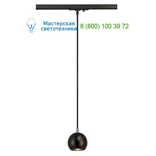 144020 SLV by Marbel 1PHASE-TRACK, LIGHT EYE PD GU10 светильник подвесной для лампы GU10 5Вт (!) макс., хром/ черный