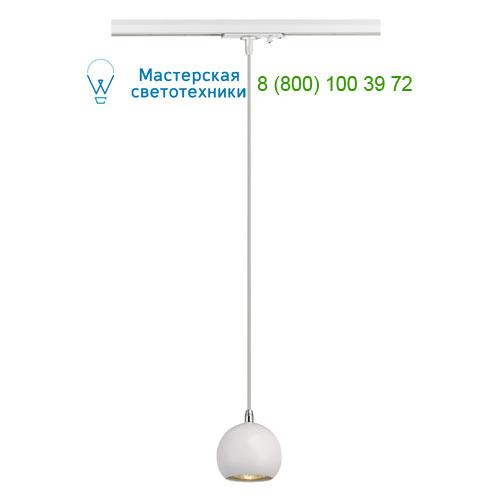 144021 SLV by Marbel 1PHASE-TRACK, LIGHT EYE PD GU10 светильник подвесной для лампы GU10 5Вт (!) макс., хром/ белый