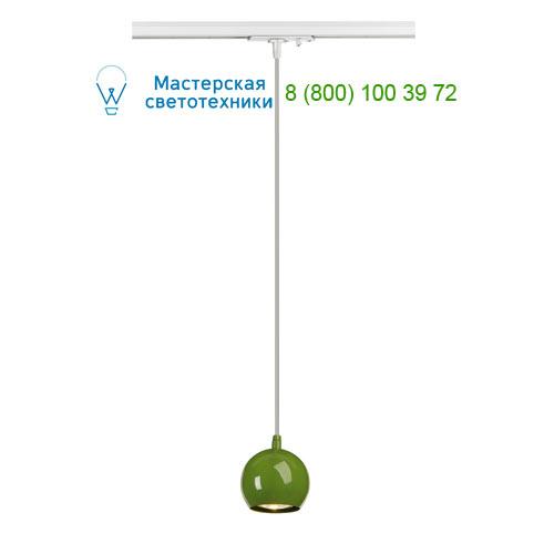 144025 SLV by Marbel 1PHASE-TRACK, LIGHT EYE PD GU10 светильник подвесной для лампы GU10 5Вт (!) макс., зеленый/ белый