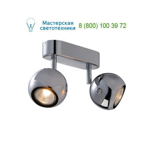 149072 SLV by Marbel LIGHT EYE 2 GU10 светильник накладной для 2-х ламп GU10 по 50Вт макс., хром