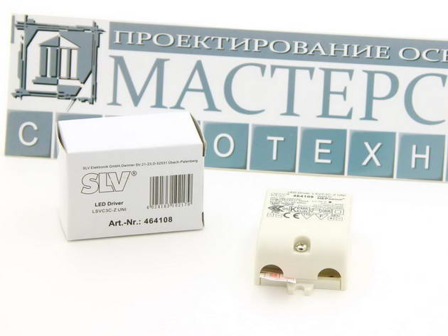 Источник питания SLV 464108 LED-controller, 3VA, 350mA, incl. stress-relief -
