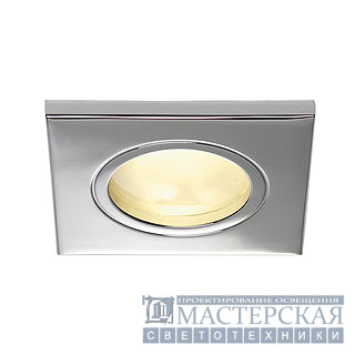 FGL OUT GU10 SQUARE downlight, square, chrome, max. 35W